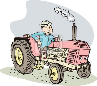 Granjero y su tractor