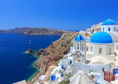 Póster Grecia Santorini