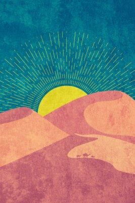 Póster Grunge desert dunes