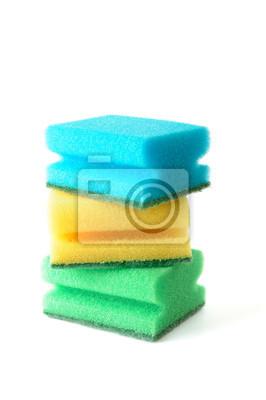Grupo de esponjas de cocina
