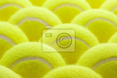 Grupo de pelotas de tenis