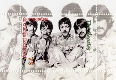 Póster Guinea - CIRCA 1996: The Beatles - 1960 famoso grupo pop musical