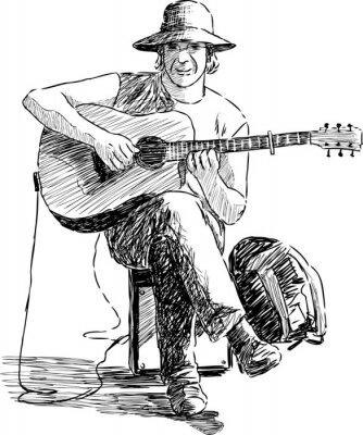 Póster guitarrista