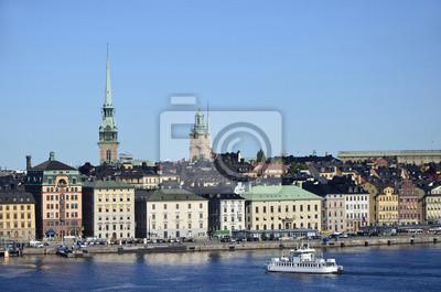 Hafenfront an der Skeppsbron en Estocolmo