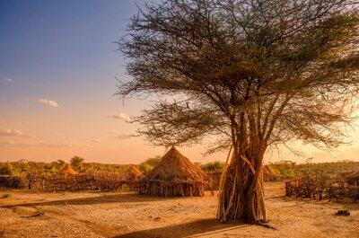 Póster Hamer village near Turmi, Ethiopia