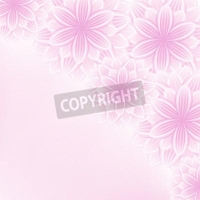 Hermosa Elegante Fondo Floral Con Rosa Flores Blancas Estilizadas
