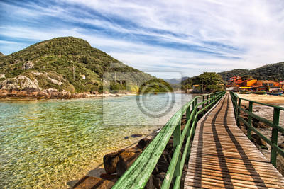 Hermosa playa al sur de Brasil, Florianópolis