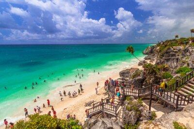 Póster Hermosa playa de Tulum en México