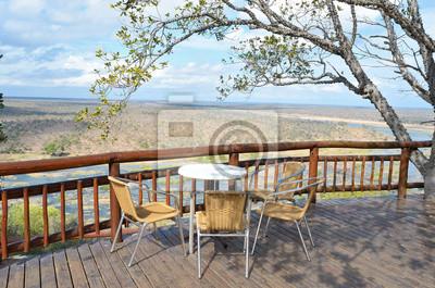 Hermosa vista al río desde el restaurante de camping en Kruger NP