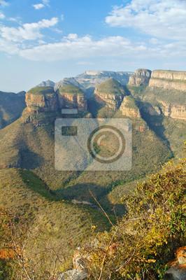 Hermosa vista de Blyde River Canyon, la naturaleza de Sudáfrica