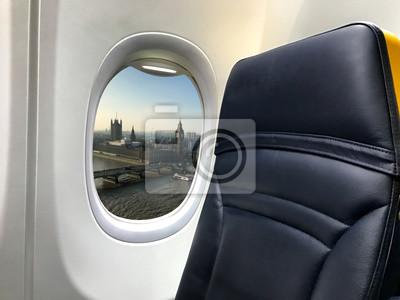 Hermosa vista de Londres desde un avión
