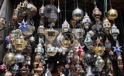 pster hermosas lmparas y linternas tpicos de marruecos visto en la