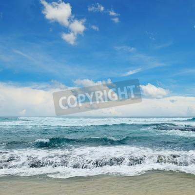 Póster Hermosas olas en el mar
