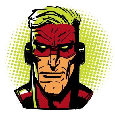 Póster Héroe rojo