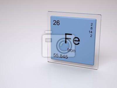Hierro fe smbolo elemento qumico de la tabla peridica pster hierro fe smbolo elemento qumico de la tabla peridica urtaz Image collections
