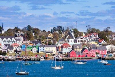 Póster Histórico puerto de Lunenburg Nueva Escocia NS Canadá
