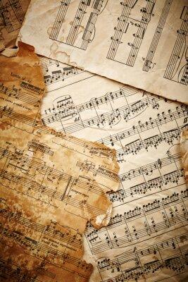 Póster Hojas de música