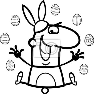 Hombre como de dibujos animados conejo de pascua para colorear ...
