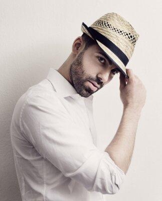Póster Hombre con Sombrero