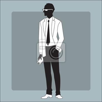 Hombre de negocios moderno con un gadget en la mano