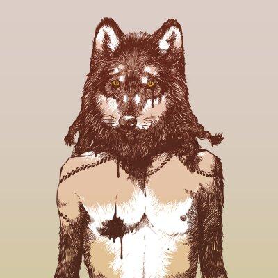 Póster Hombre-lobo