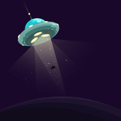 Póster Hombre raptado por UFO