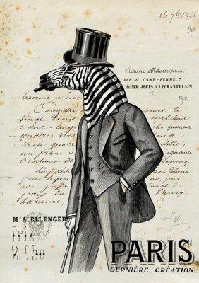 Póster Hombre Zebra