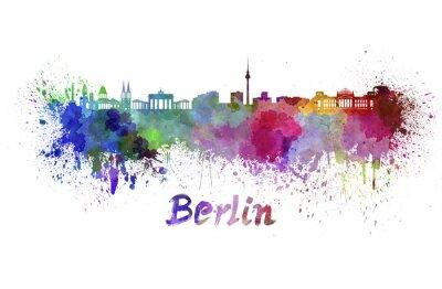 Póster Horizonte de Berlín en acuarela