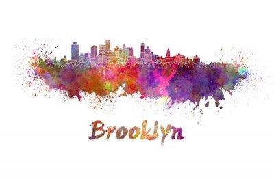 Póster Horizonte de Brooklyn en acuarela