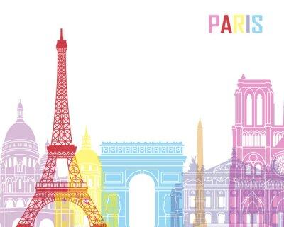 Póster Horizonte de París pop
