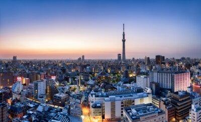 Póster Horizonte de Tokio con Skytree