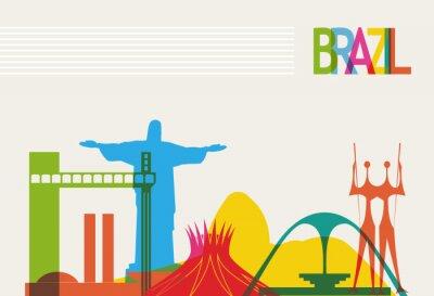 Póster Horizonte de turismo Brasil