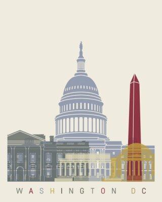 Póster Horizonte del Washington DC Poster