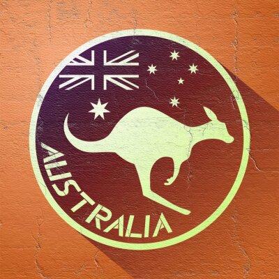 Póster Icono de australia agradable