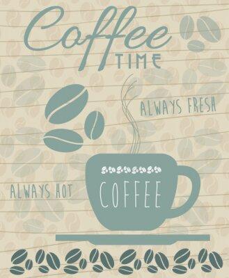 Póster Icono de café