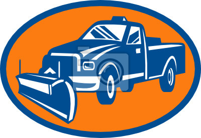 Icono de camión de arado de la nieve