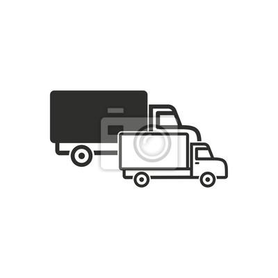 Icono de carro vector.
