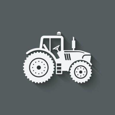Póster Icono de la silueta del tractor