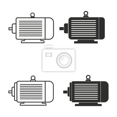 Icono de motor eléctrico conjunto.