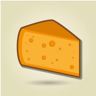Póster Icono de queso diseño