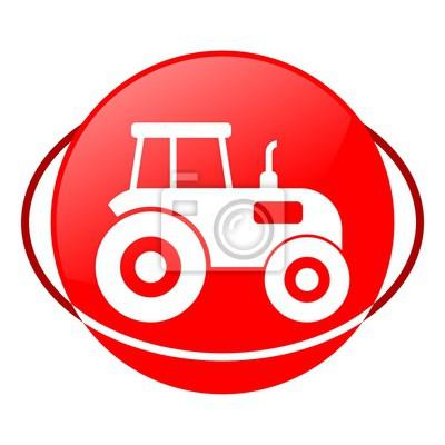 Icono de rojo, tractor ilustración vectorial