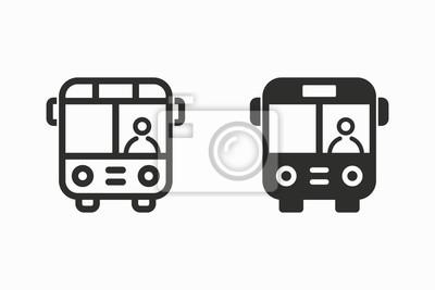 Icono de vector de autobús.