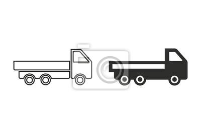 Icono del vector del carro.