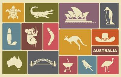 Póster Iconos australianos