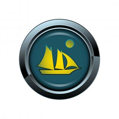 iconos bateau voilier mer picto bouton Icône sitio web en Internet