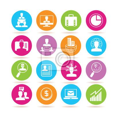 Iconos De Gestion Empresarial Carteles Para La Pared Posters Cv