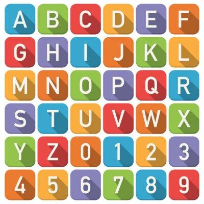 Póster Iconos del alfabeto