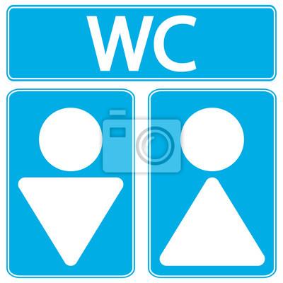 Iconos Hombres Y Mujeres Símbolos Baño Carteles Para La Pared