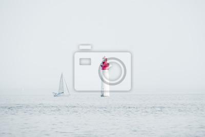 Ile de ré barco phare voilier vacances naviguer paysage océan marin
