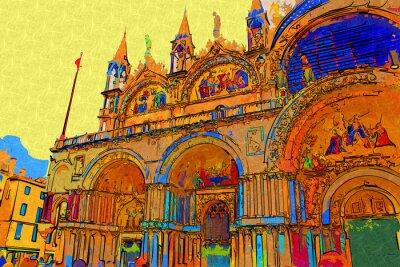 Póster Ilustración de arte de Venecia